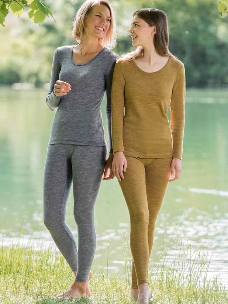 Engel Natur Damen Unterhemd Langarm Bio-Schurwolle//Bio Funktionswäsche Damen