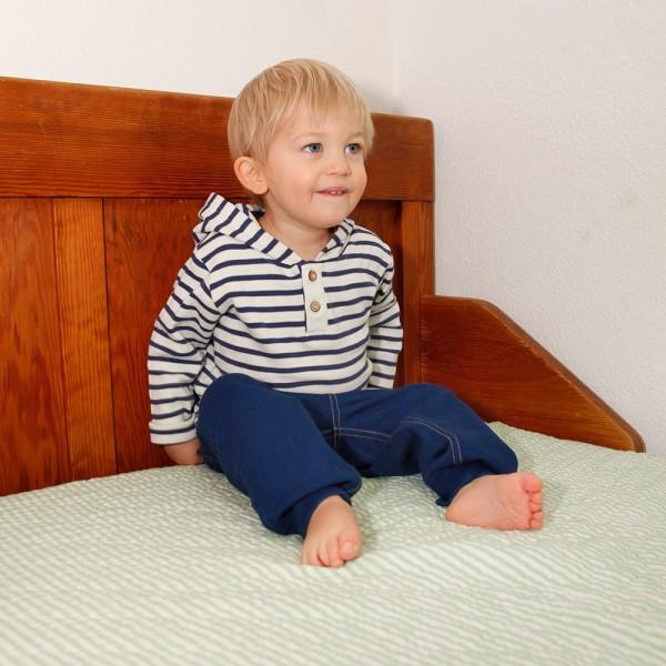 Leela Cotton Baby//Kinder Hose mit Blockstreifen Reine Bio-Baumwolle