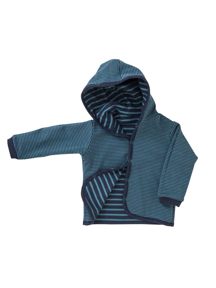 People Wear Organic Baby und Kinder Wendejacke//gestreifte Jacke Bio-Baumwolle