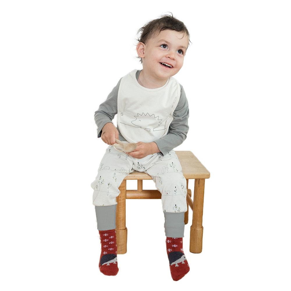 Living Crafts Baby Lätzchen 2er-Pack mit Träger Bio-Baumwolle