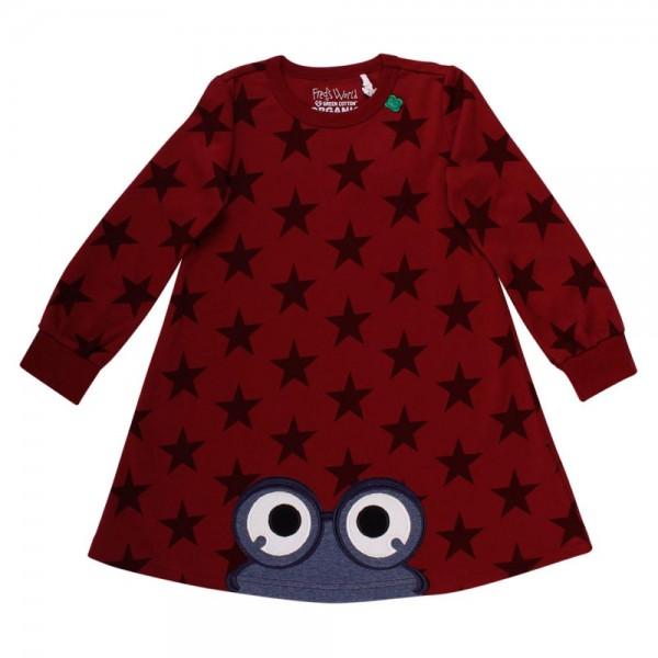 2c8f6bea4f Fred's World Mädchen Kleid Langarm Star Bio-Baumwolle | Kleider ...