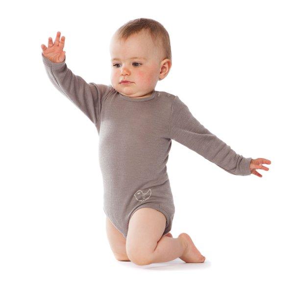 FRAU WOLLE Baby Body Langarm Bio-Wolle//Seide