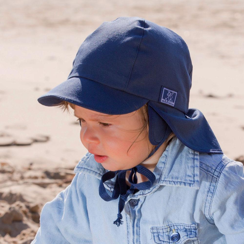 PICKAPOOH Baby//Kinder Sonnenhut Tom mit UV-Schutz aus Bio-Baumwolle